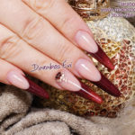 Russian almond acrylic nails